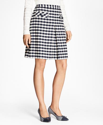 Gingham Boucle Skirt
