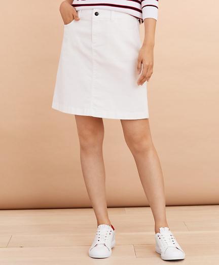 Stretch Denim A-Line Skirt