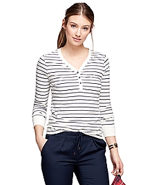 Stripe Henley Shirt