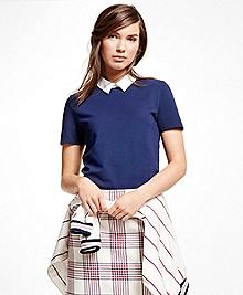 Short-Sleeve Cotton Pique Knit