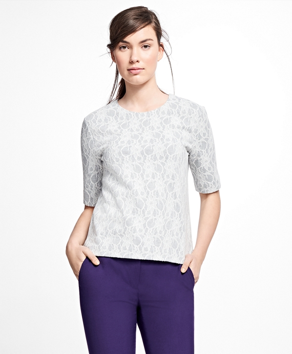 Bonded Lace Top Grey