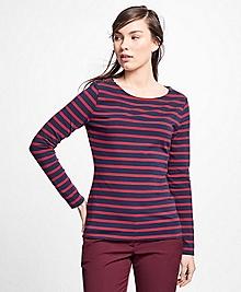 Stripe Jersey-Knit Top