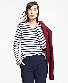 Stripe Jersey-Knit Top