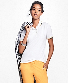 Tipped Cotton-Blend Pique Polo