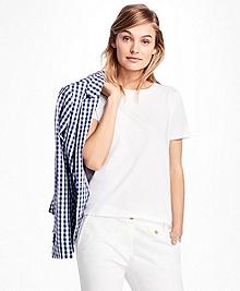 Eyelet-Back Jersey Tee Shirt