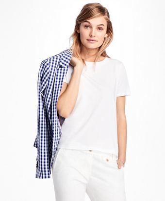 Eyelet-Back Jersey T-Shirt