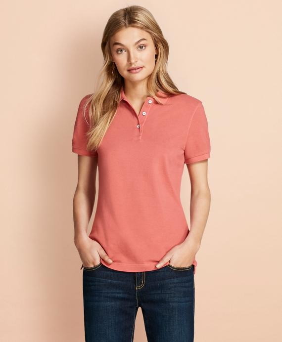 Garment-Dyed Pique Polo Rose