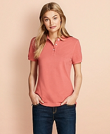 Garment-Dyed Pique Polo