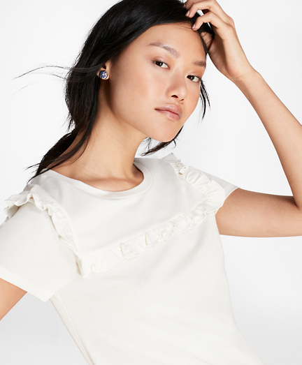 Ruffle-Trimmed T-Shirt