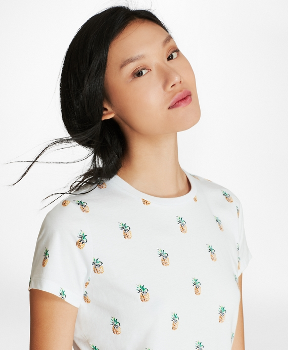 Pineapple-Sequined T-Shirt White