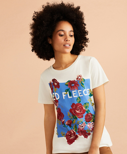 Floral Logo Graphic T-Shirt