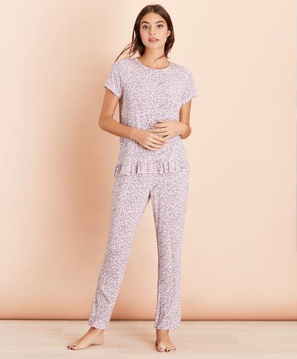 Floral-Print Jersey Pajama Set