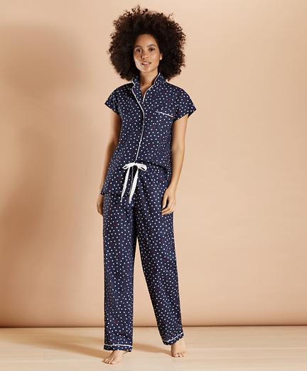 Heart-Print Supima® Cotton Poplin Pajamas