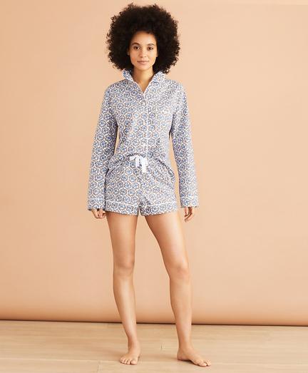 Floral-Print Cotton Short Pajama Set