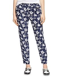 Hibiscus Print Pants