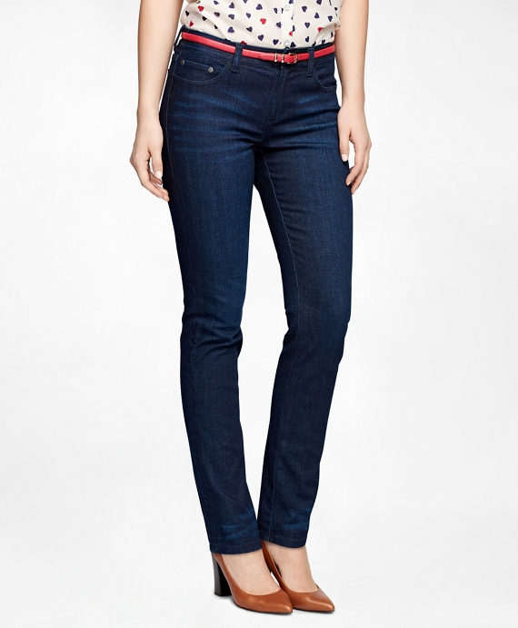 Five-Pocket Denim Pants Dark Blue