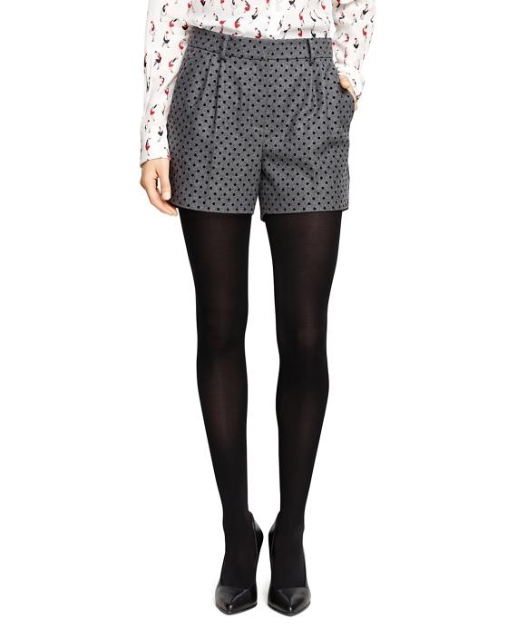 Wool Blend Polka Dot Shorts