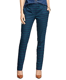 Wool Stretch Plaid Pants