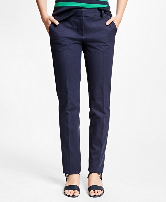 Cotton Blend Pants Navy