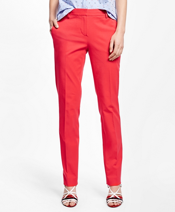 Cotton Blend Pants Red