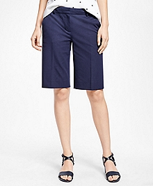 Cotton Blend Bermuda Shorts