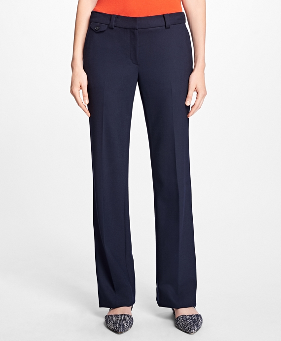 Stretch Wool Pants Navy