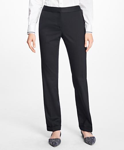 Wool-Twill Cuffed Pants