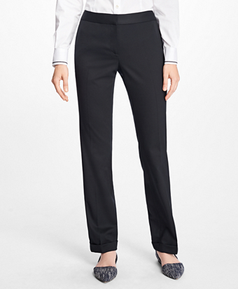 Wool-Twill Cuffed Pants