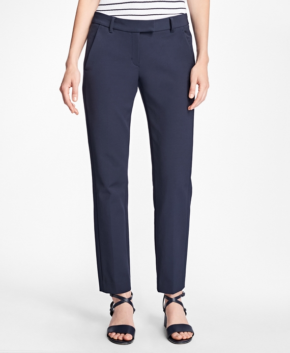 Stretch Cotton Pants Navy