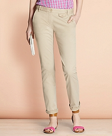 Stretch-Cotton Twill Pants