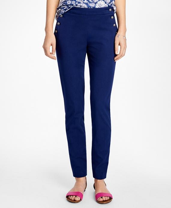 Wide-Leg Cotton Twill Sailor Pants