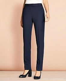 Tapered Stretch Wool Trousers