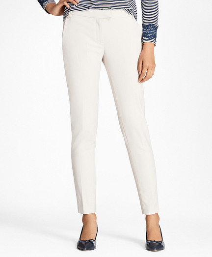 Slim-Fit Stretch Cotton-Blend Pants