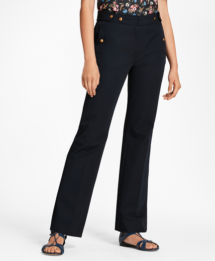 Stretch Cotton Twill Pants