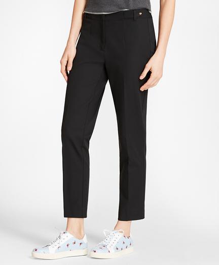 Stretch-Cotton Twill Straight-Leg Pants