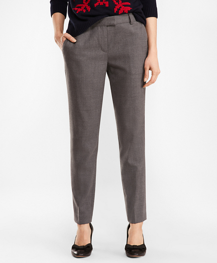 Tapered Stretch Wool-Blend Pants