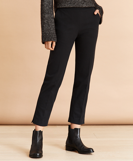 Slim-Fit Stretch Cotton Twill Ankle Pants