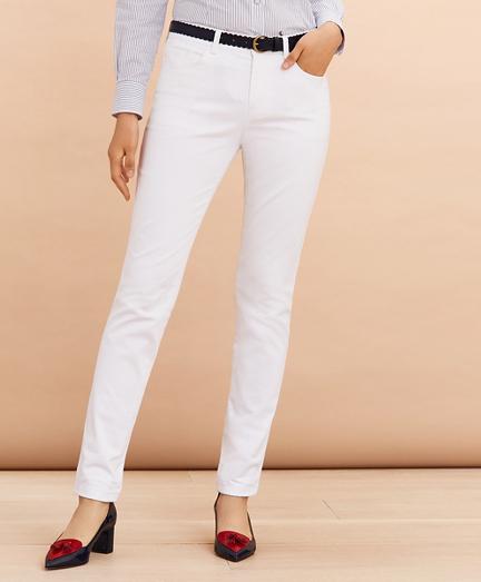 Stretch Cotton Sateen Five-Pocket Pants
