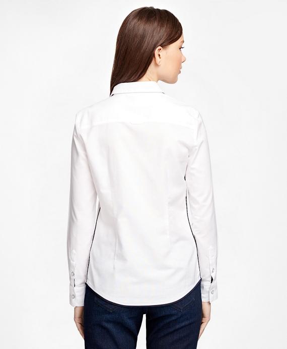 Women 39 S White Cotton Oxford Shirt Brooks Brothers