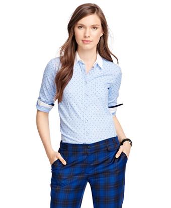 Cotton Polka Dot Dress Shirt