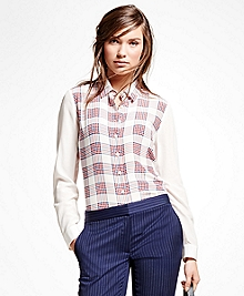 Silk Plaid Blouse
