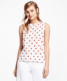 Cotton Sleeveless Printed Shirt