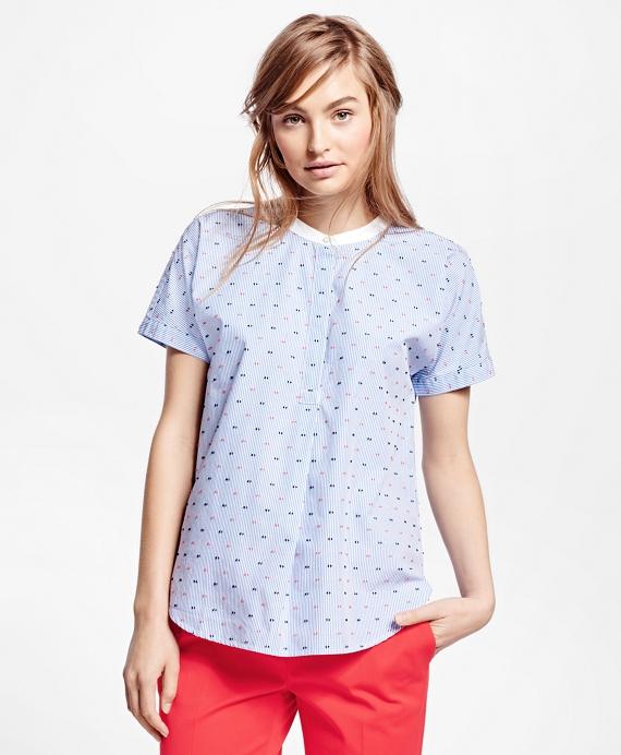 Cotton Stripe Shirt Blue