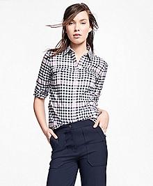 Brushed-Cotton Plaid Shirt