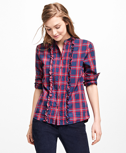 Tartan Ruffle Shirt