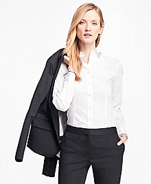 Cotton-Blend Poplin Blouse
