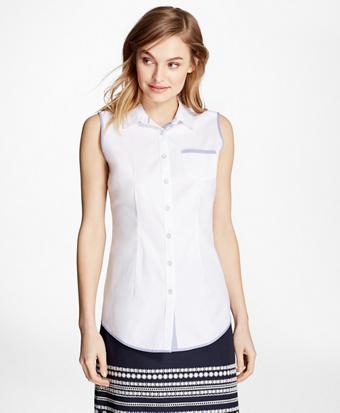 Sleeveless Pinpoint Oxford Shirt