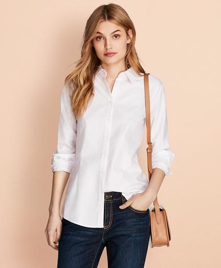 Nine-to-Nine Dobby Stripe Stretch Cotton Shirt