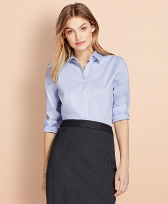 Nine-to-Nine Stretch Cotton Pinpoint Oxford Shirt