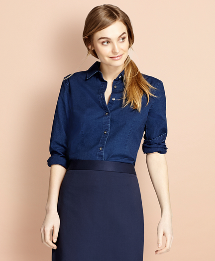 Red Fleece Women's Shirts and Tops | Brooks Brothers